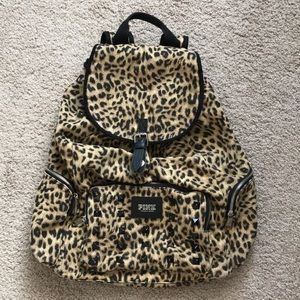 PINK by Victoria's Secret Leopard Studded Backpack
